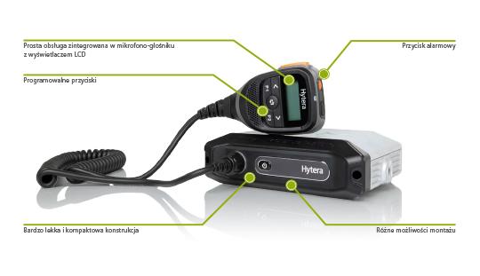 Radiotelefon cyfrowo-analogowy w standardzie ETSI DMR Hytera MD655